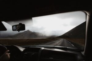 road trip, view from car