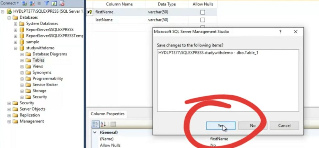 Save option in SQL Server Management Studio