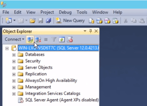 SQL Server Management Studio Objects