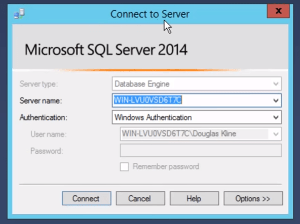 SQL Server Management Studio Connection