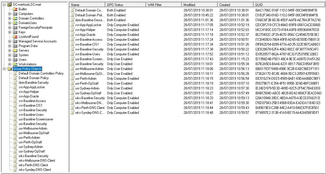 GPO Explorer - GPO List