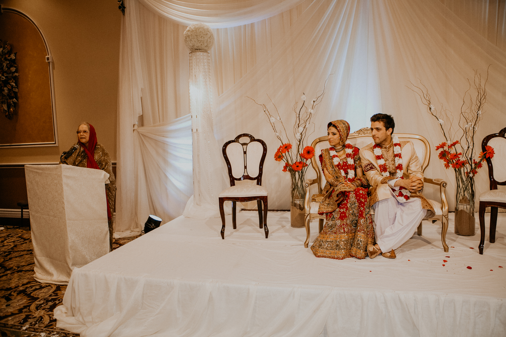 Speech at Islamic Indian wedding MN Indian wedding photograph