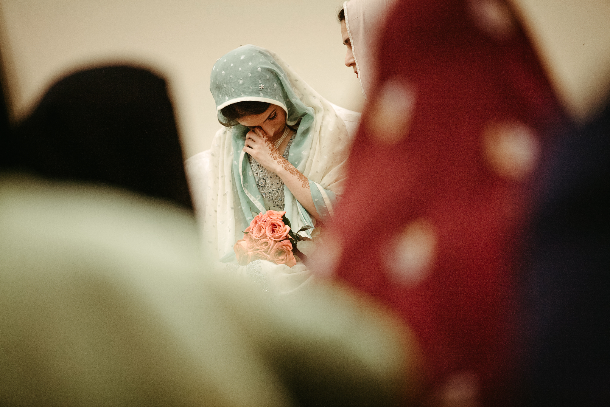 Bride cries at Nikah wedding traditional ceremony documentary photo