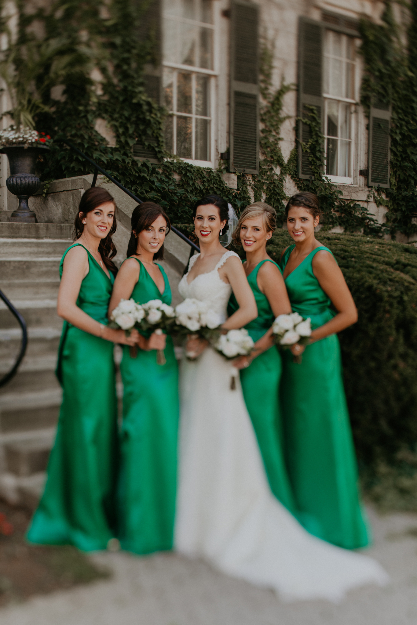 Portrait of bride and bridesmaids Hamilton Ontario