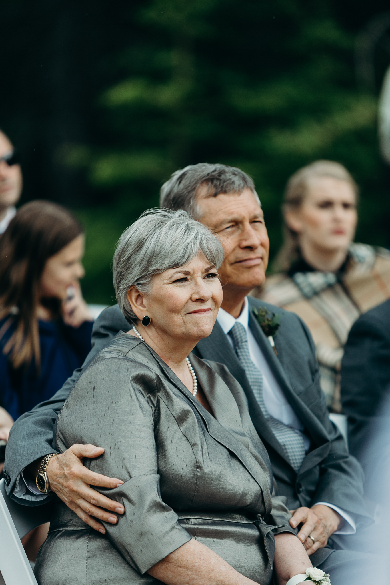 Mother and father of bride at Silvertip Resort wedding ceremony