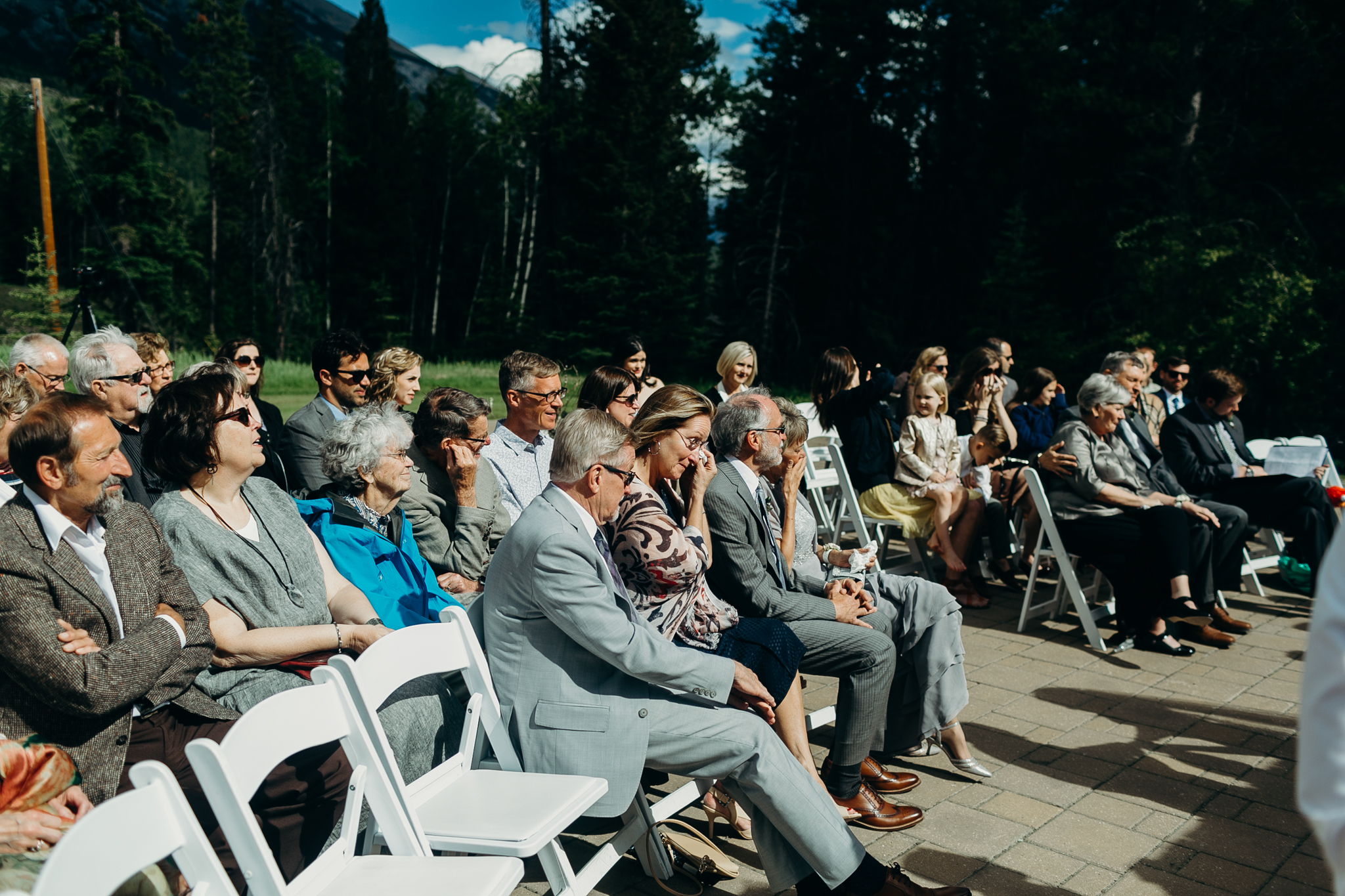 Guests at Silvertip Resort Canmore Alberta wedding