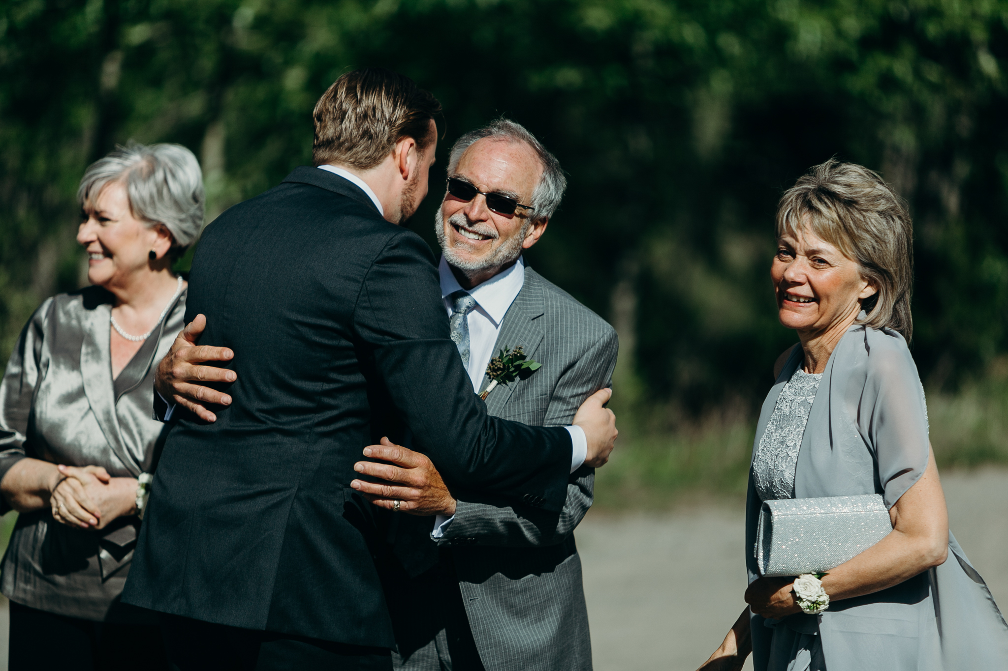 candid wedding photo destination wedding Canmore Silvertip