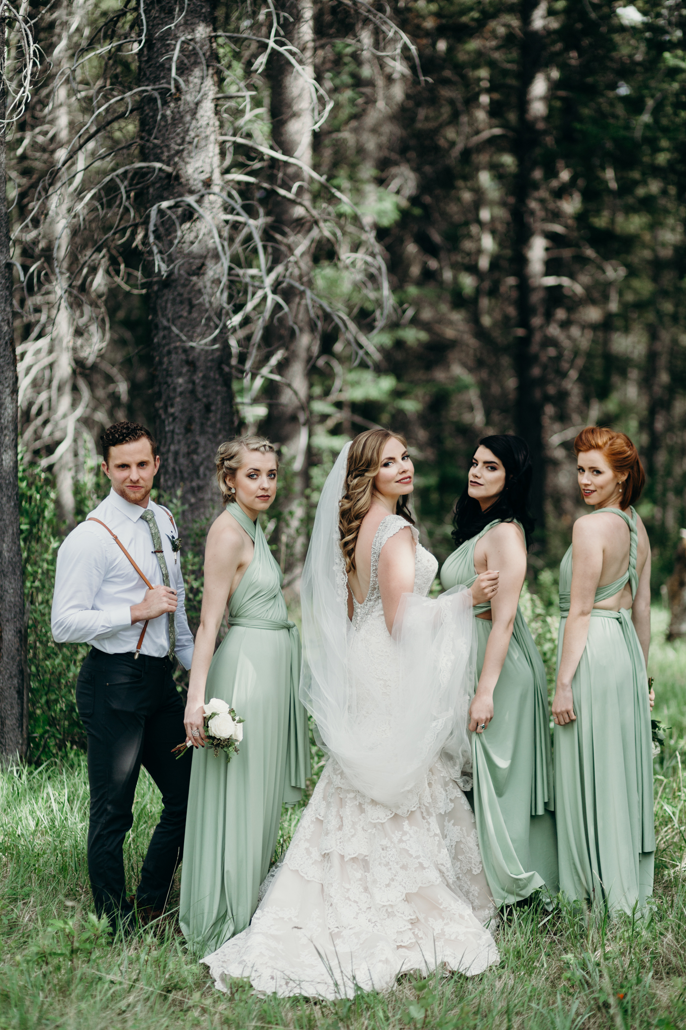 Bride photo at Silvertip Resort destination wedding Canmore AB