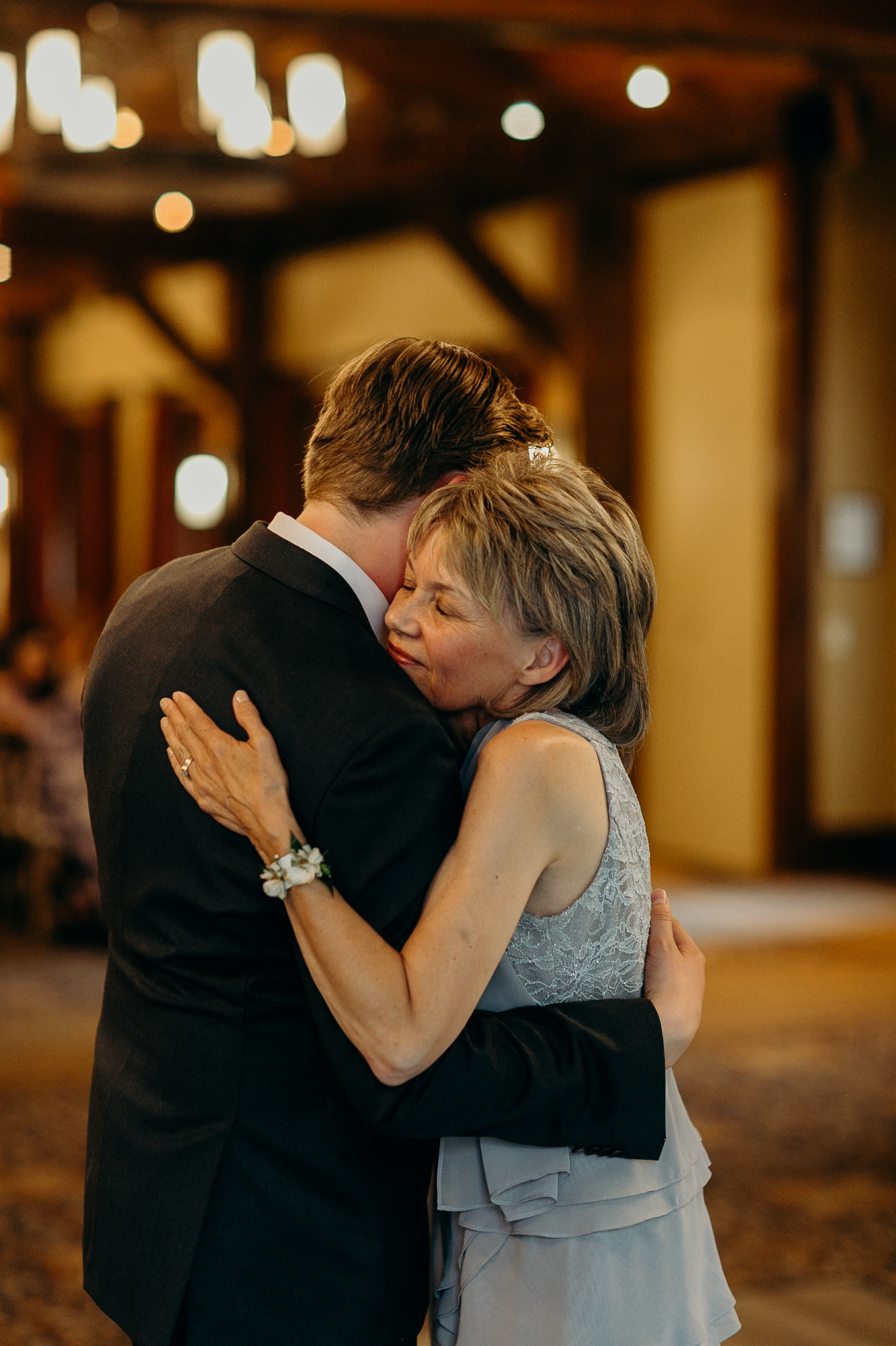 Mother of the bride dance at wedding reception Silvertip Resort