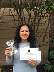 Gabriela Avila, Seymour Central Coast Award Recipient 2017-18
