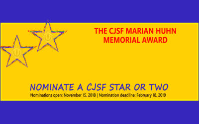 CJSF Marian Huhn Memorial Award Nominations Open Nov 15th