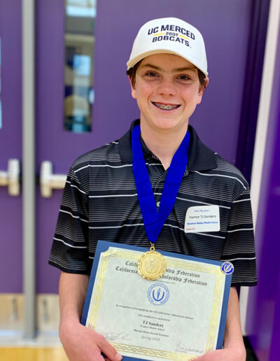 TJ Sanders, Wallace Middle School Chapter 976, Adviser Meg Hairell
