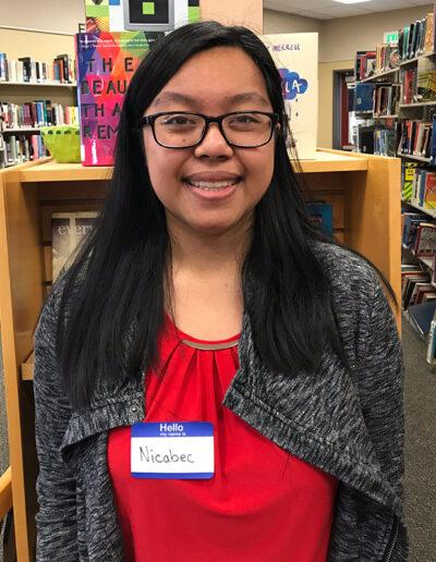 Seymour North 2019 Finalist Nicabec Casido, Clear Lake High School Chapter 269, Adviser Elisa Prather