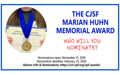 CJSF Marian Huhn Award – Nominations are Open