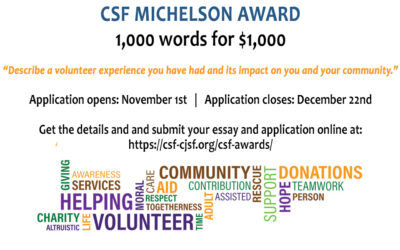 Write an Essay for the CSF Michelson Award