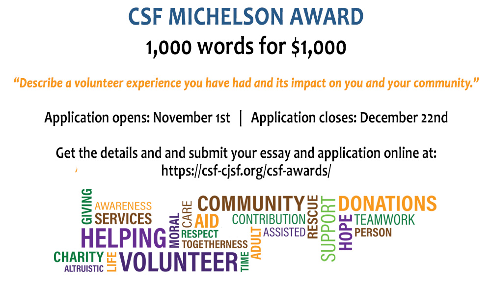 Michelson Award graphic 2019