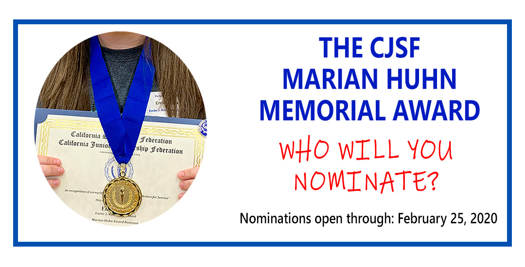 2020 Marian Huhn Award nominations are open