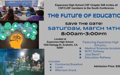 South Region Conference March 14, 2020 | Esperanza HS, Anaheim