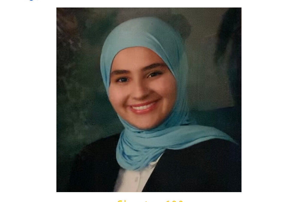Sanaa Abdulkarim, , 2020 CSF Seymour Award South Region Finalist