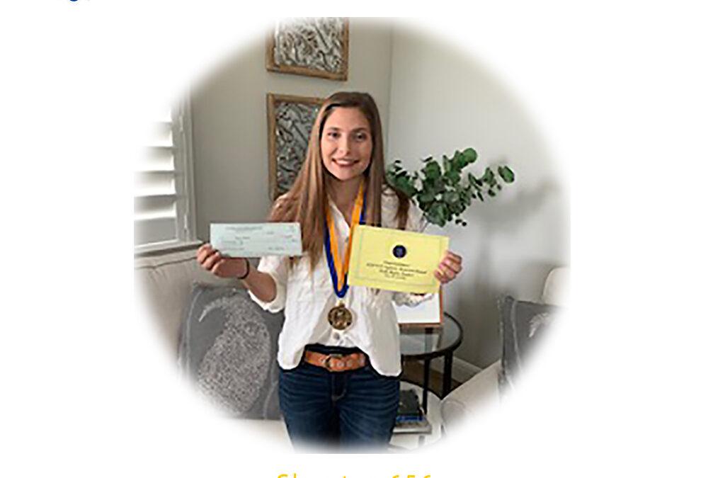 Jenna Barba, 2020 CSF Seymour Award North Region Finalist