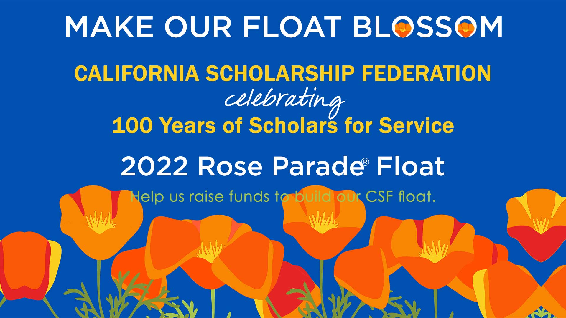 CSF Rose Float fundraising banner