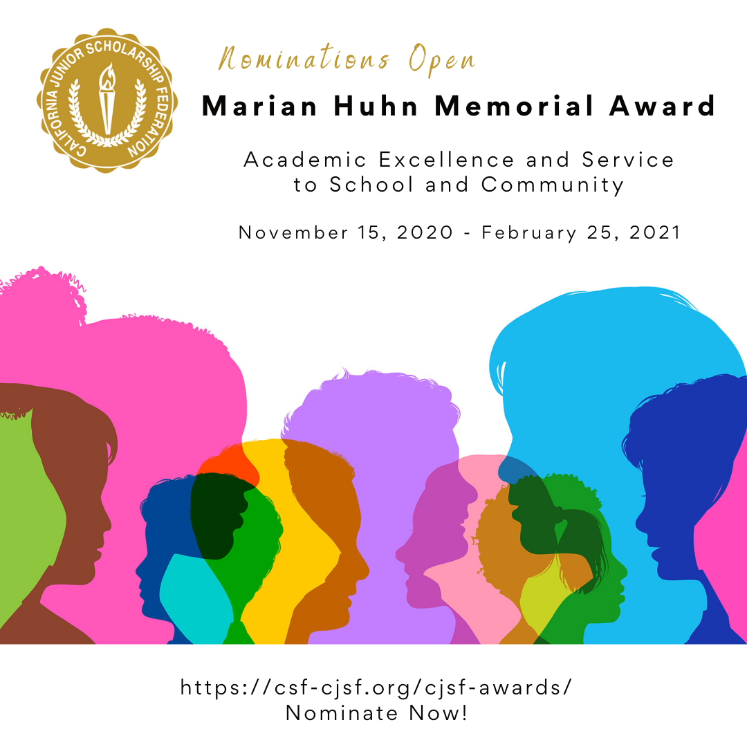 Marian Huhn Award for CJSF members