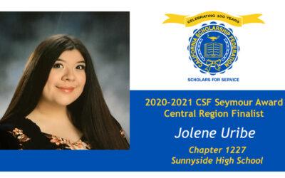 Jolene Uribe Seymour Award 2020-2021 Central Region Finalist
