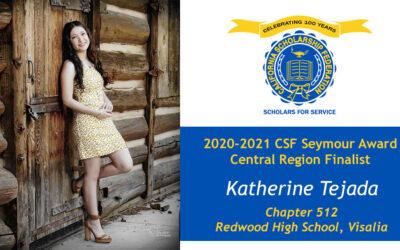 Katherine Tejada Seymour Award 2020-2021 Central Region Finalist