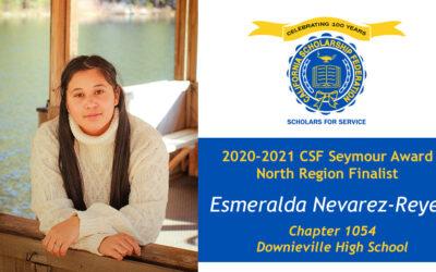 Esmeralda Nevarez Reyes Seymour Award 2020-2021 North Region Finalist