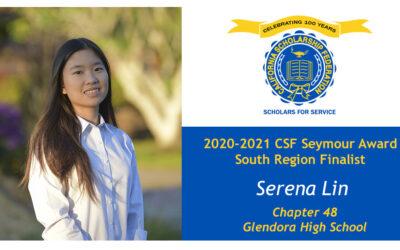 Serena Lin Seymour Award 2020-2021 South Region Finalist