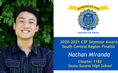 Nathan Miranda Seymour Award 2020-2021 South Central Region Finalist