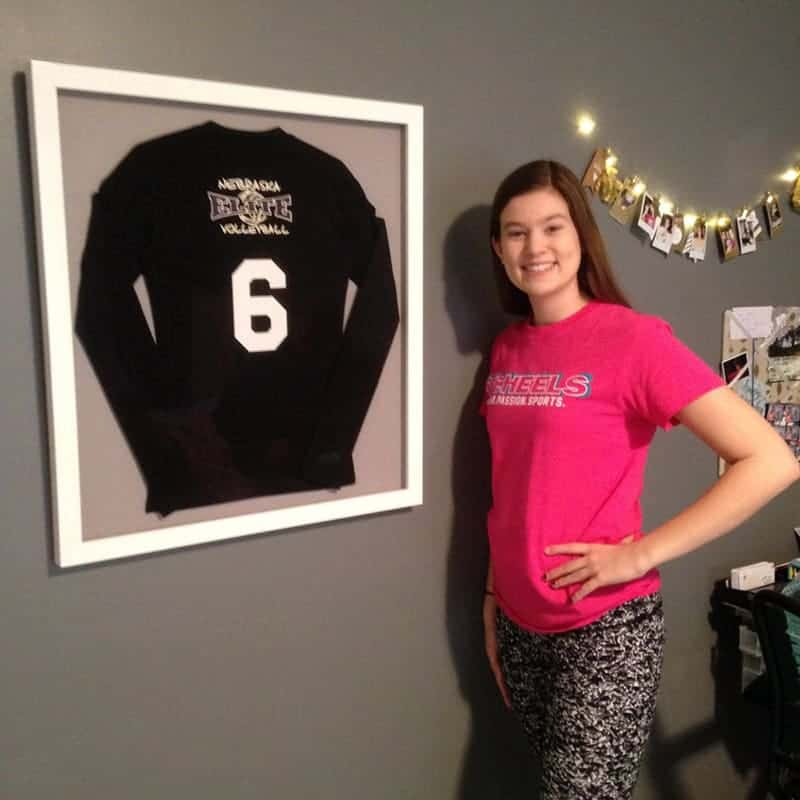 framed volleyball jersey