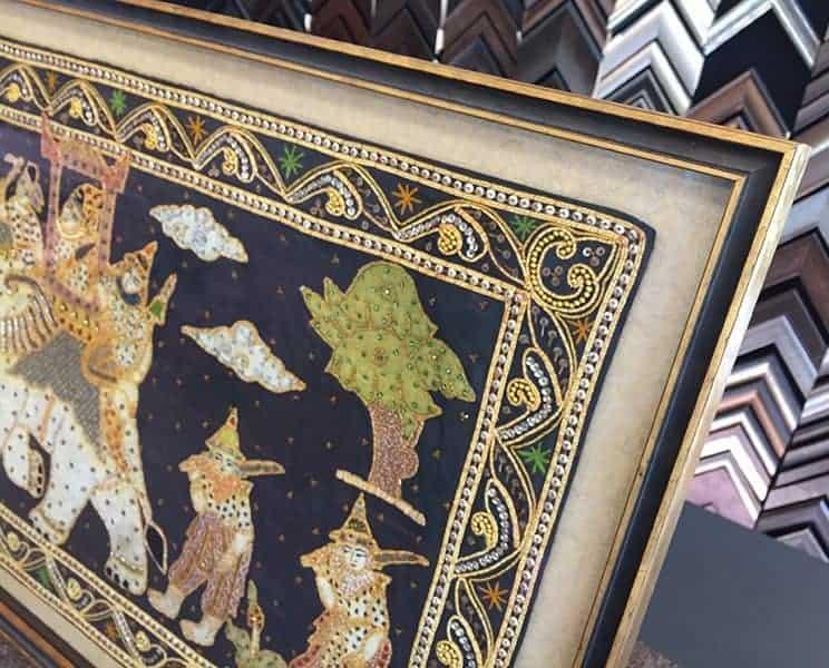 myanmar fabric art