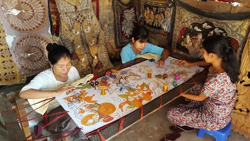 myanmar fabric art