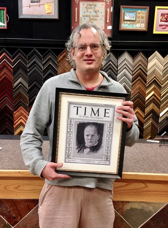 framed time magazine