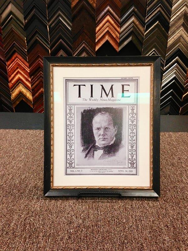 framed time magazine
