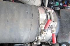 Cracked Engine Exhaust Hose