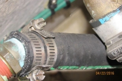 Cracked Raw Water Hose