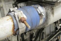 Deteriorated / Split Detroit Diesel Cooling Hose