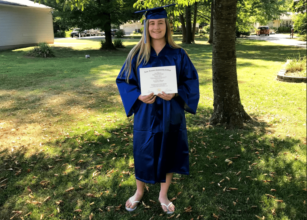 Graduating from AACC with a degree in Computer Science