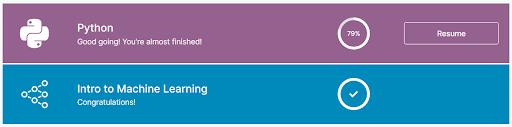 Kaggle Course Progress