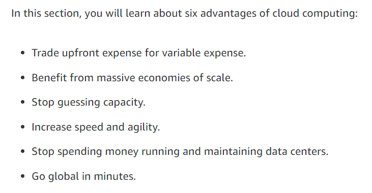 Cloud Computing section breakdown