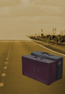 Suitcases on the Road by Connie Cockrell using Suitcases by Frost_Stock via www.DeviantArt.com Road picture by Randy Cockrell