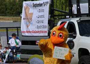 Northern Gila County Fair float, with Chicken!