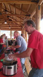 Pat and Randy at the Chili-Cookoff