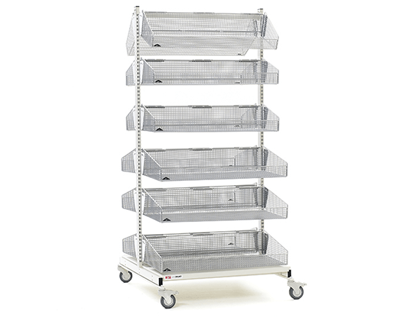 Laboratory Basket Shelving from Metro.