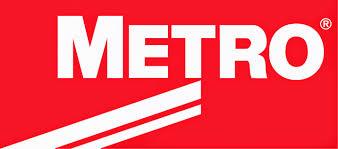 Metro company logo.