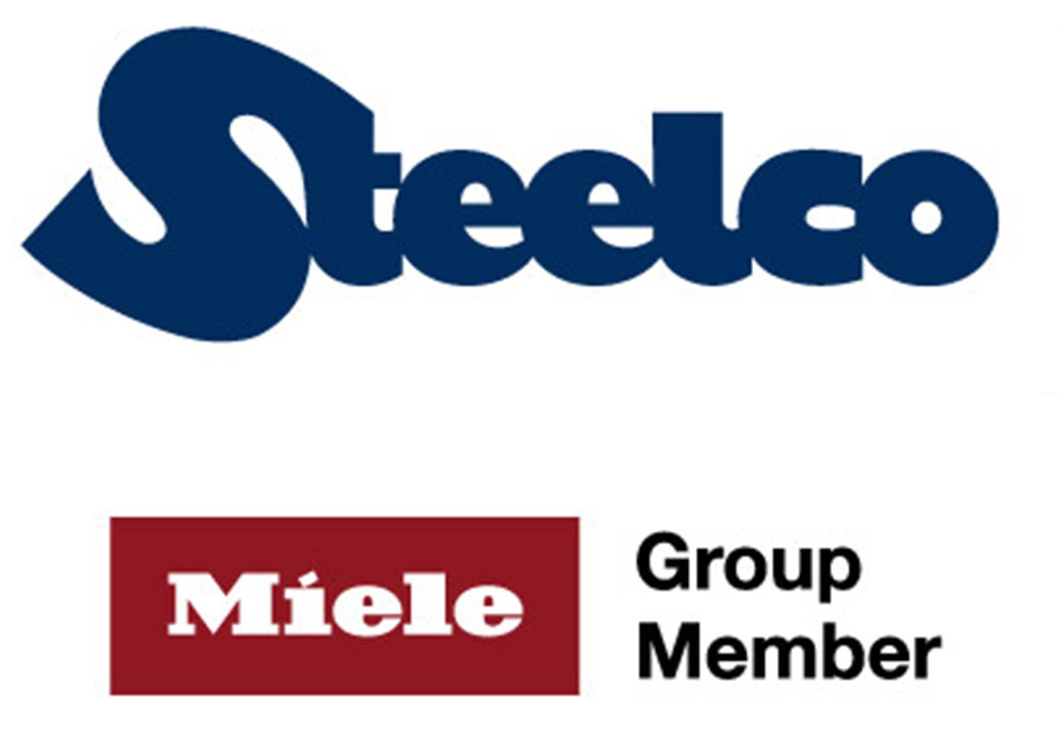 Steelco and Miele logo.