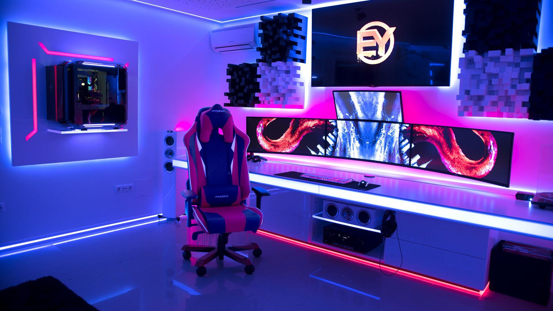 custom desk setup