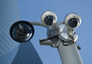 multiple surveillance cameras